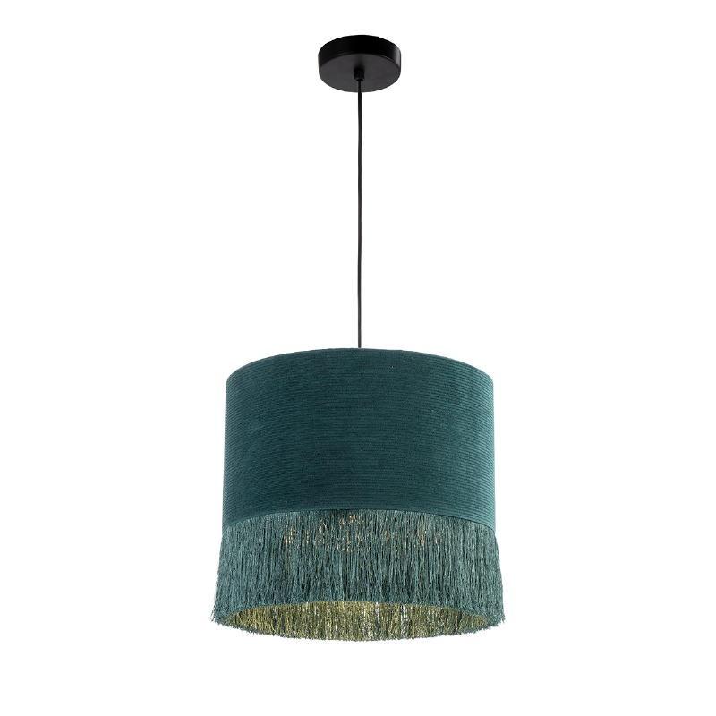 Lampe suspendue avec abat-jour 35x35x32 tissu Vert