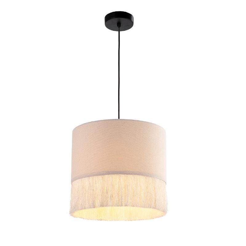 Lampe suspendue 35x35x32 tissu Blanc