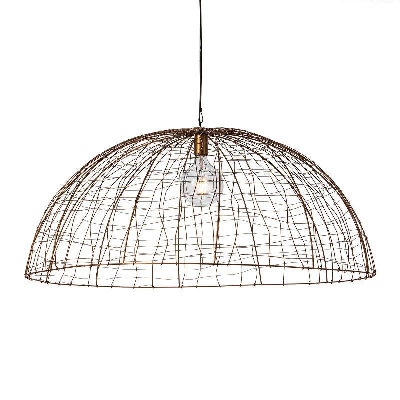 Hanging Lamp 100X100X40 Wire Golden