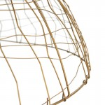 Hanging Lamp 80X80X32 Wire Golden