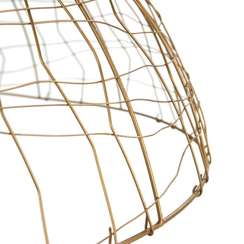 Lámpara Colgante 80X80X32 Alambre Dorado - image 52623