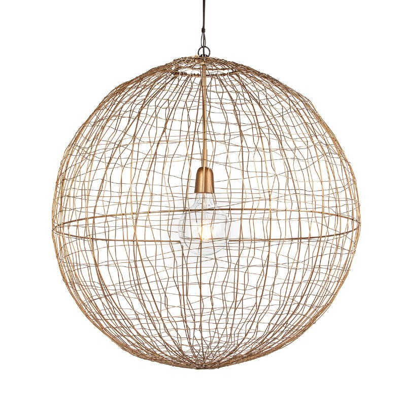Hanging Lamp 70X70X70 Wire Golden