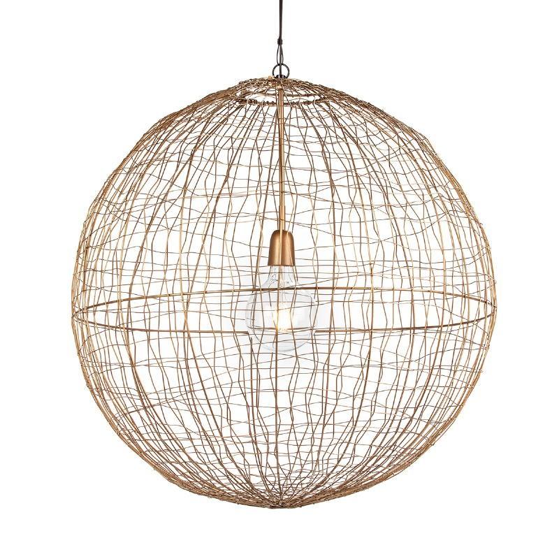 Lampe suspendue 70x70x70 Fil de fer Doré - image 52628