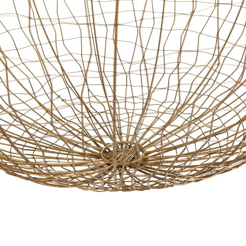 Lampe suspendue 70x70x70 Fil de fer Doré - image 52629