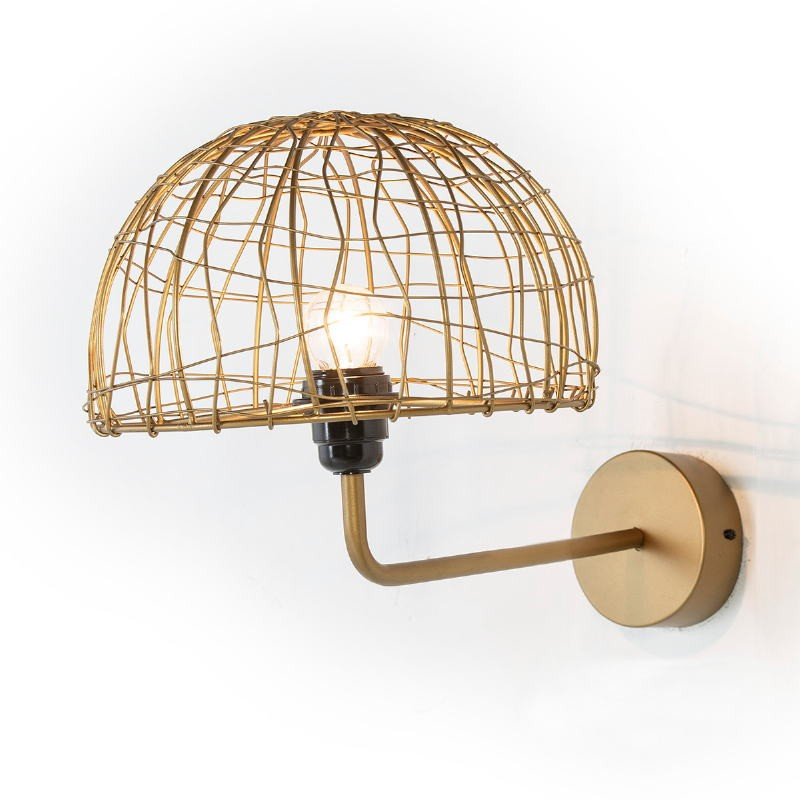 Wall Lamp 23X37X25 Wire Metal Golden - image 52630