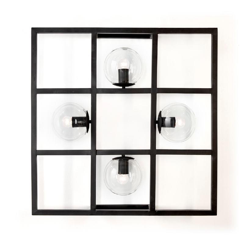 Wall Lamp 72X13X72 Metal Black - image 52634