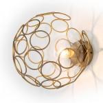 Wandlampen 30X33X30 Glas / Metall Golden