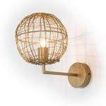 Wall Lamp 20X32X29 Wire Metal Golden