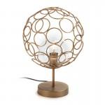 Lampe de Table 30x30x45 Verre Métal Doré