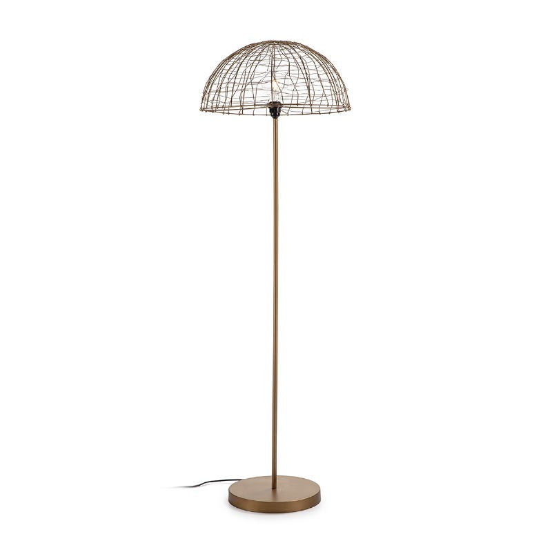 Standard Lamp 50X50X157 Wire Metal Golden Antique - image 52676