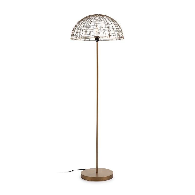 Stehlampe 50X50X157 Draht/Metall Goldene Antike - image 52676