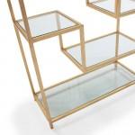 Shelf 91X38X203 Glass Metal Golden