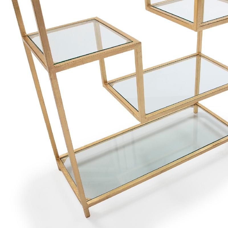 Estantería 91X38X203 Cristal Metal Dorado - image 52679
