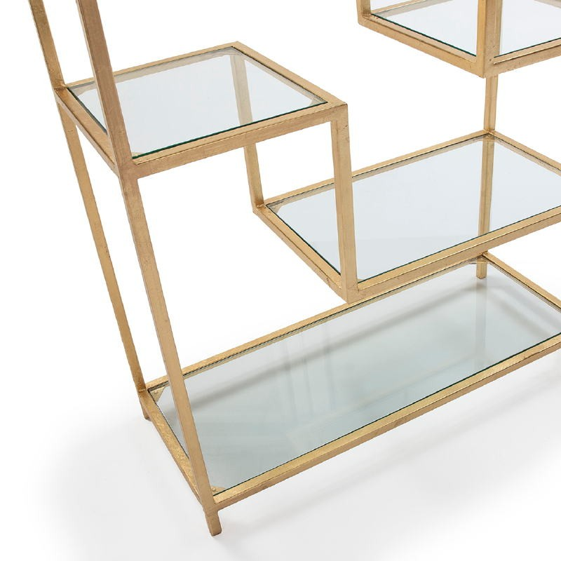 Regale 91X38X203 Glas / Metall Golden - image 52679