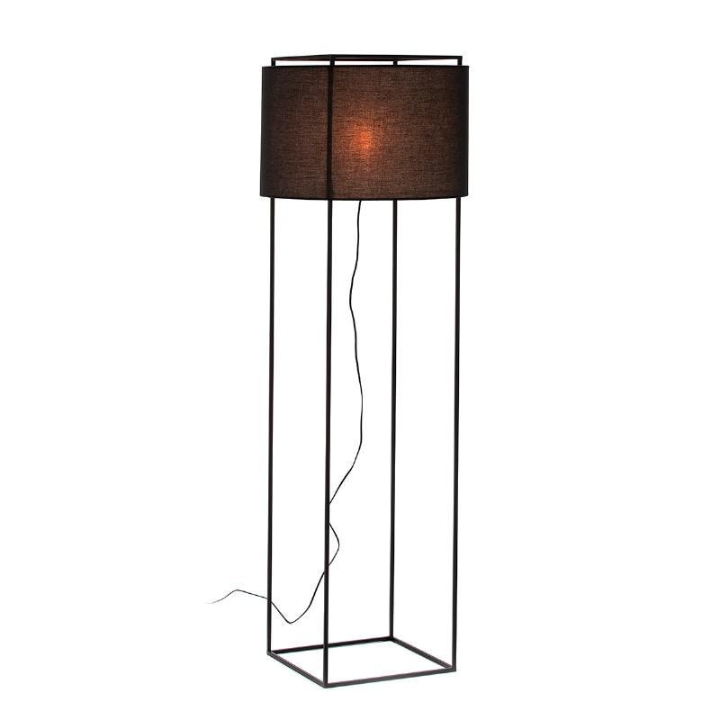 Lámpara De Pié Con Pantalla 55X55X165 Metal Negro