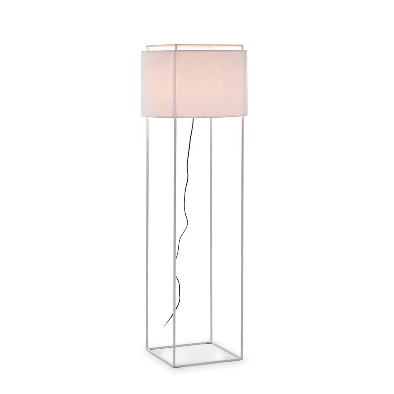 Standard Lamp With Lampshade 55X55X165 Metal White - image 52742