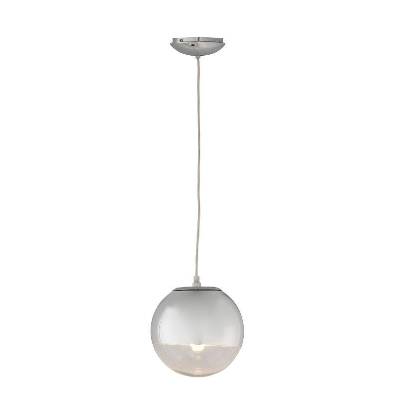 Lampe suspendue 20x20x20 Verre Métal Argent
