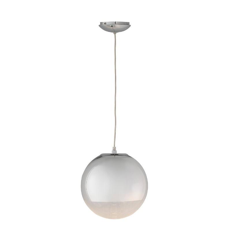 Lámpara Colgante 25X25X25 Cristal Metal Plateado