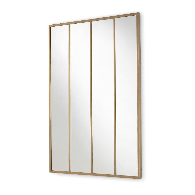 Mirror 100X3X150 Glass Metal Golden - image 52773