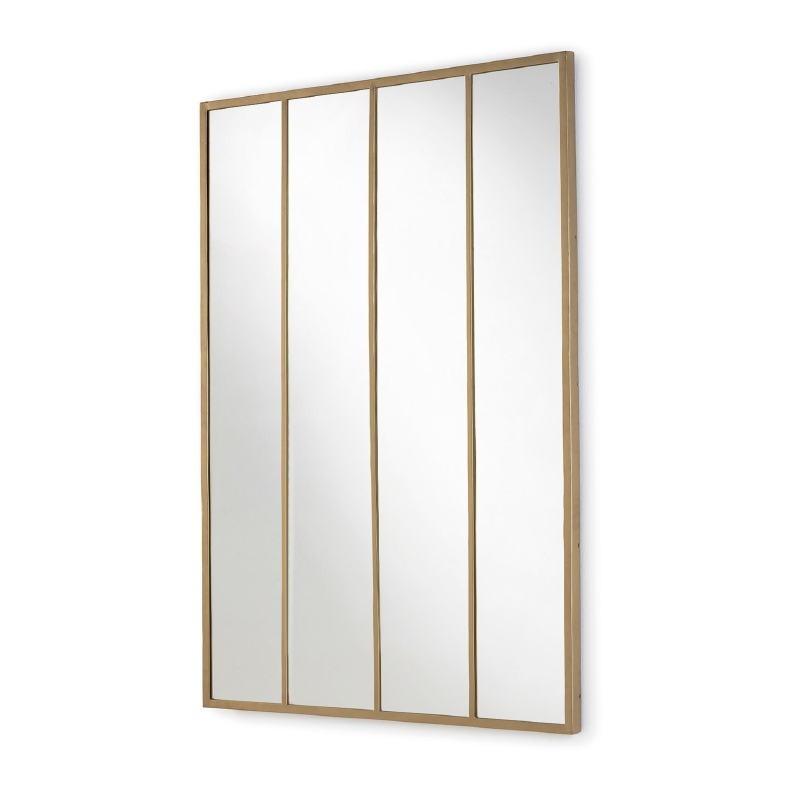 Spiegel 100X3X150 Glas / Metall Golden - image 52773