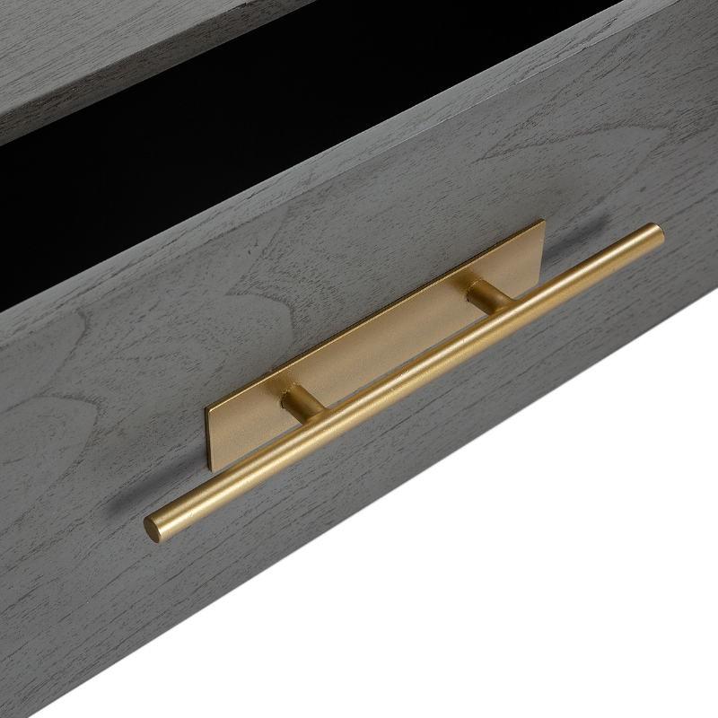 Showcase 85X40X195 Wood Grey Metal Golden - image 52845