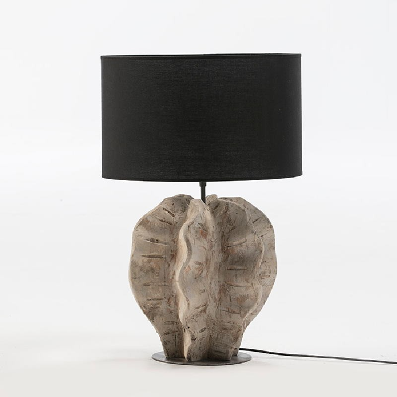 Table Lamp Without Lampshade 30X28X42 Metal Wood White Washed - image 52938