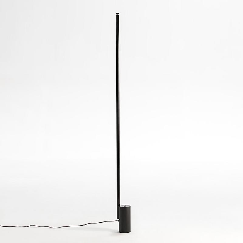 Lampadaire sans abat-jour 12x10x186 Métal Noir LED 25W