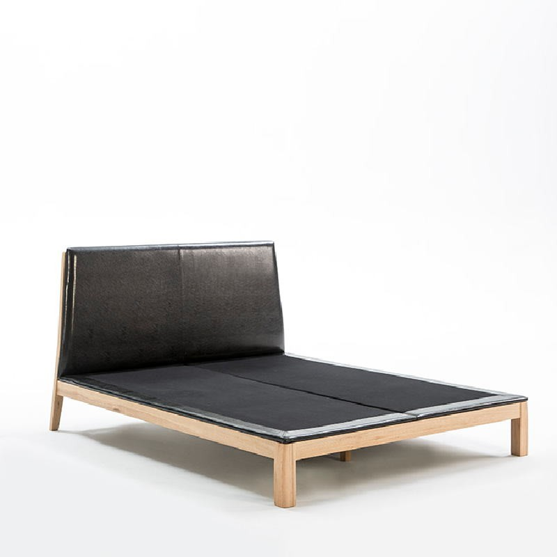 Bed 161X202X101 Wood P.Leather Black - image 52956