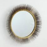 Specchio 81X7 Vetro Metallo Argento Oro