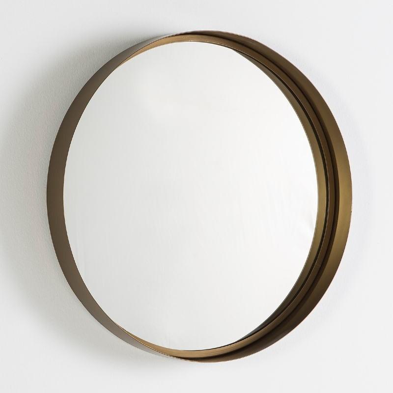 Specchio 61X5 Vetro Metallo Dorato