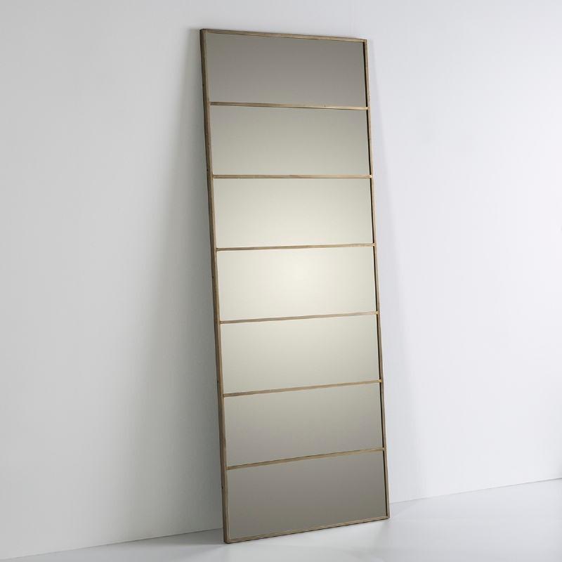 Specchio 76X3X195 Vetro Metallo Dorato