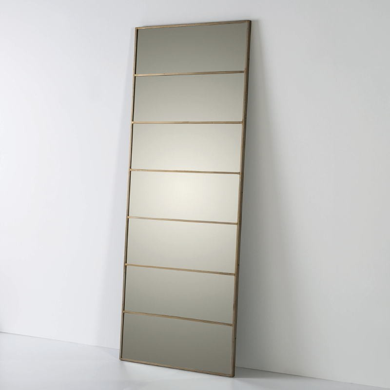 Mirror 76X3X195 Glass Metal Golden - image 53011