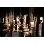 Lampe de Table avec abat-jour 22x22x43 Verre Métal Doré