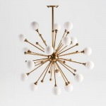 Lampe suspendue avec abat-jour 70x113 Verre Blanc Métal Doré