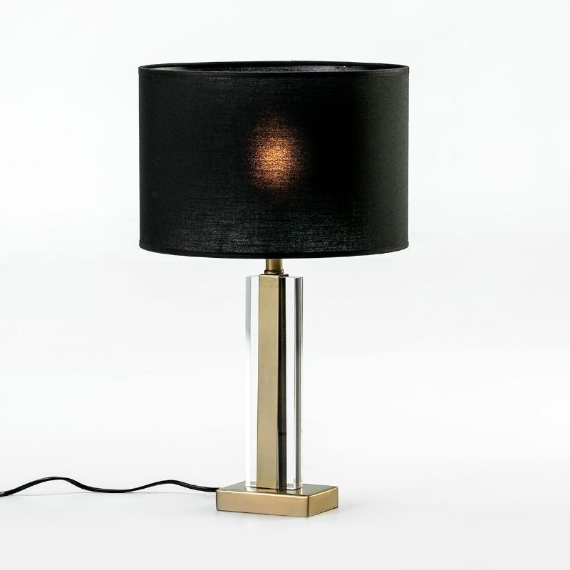 Lampe Auf Tisch Ohne Bildschirm 12X7X34 Metall/Acryl Golden/Transparent