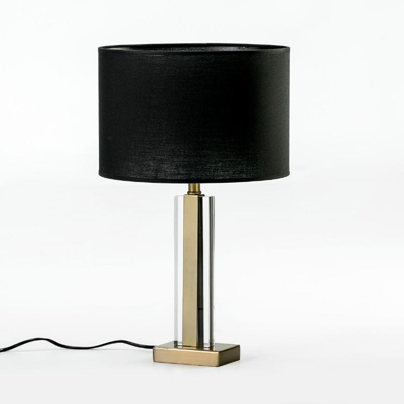 Lampe Auf Tisch Ohne Bildschirm 12X7X34 Metall/Acryl Golden/Transparent - image 53029