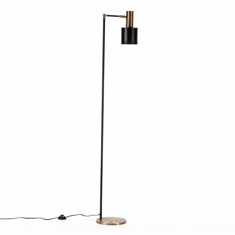 Lampada A Stelo 29X24X163 Metallo Dorato Nero - image 53035