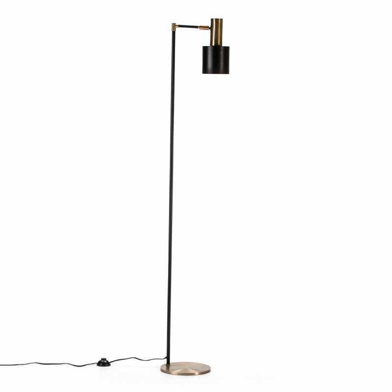 Standard Lamp 29X24X163 Metal Golden Black - image 53035
