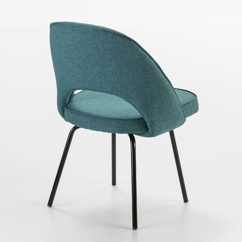 Chaise 54x58x80 Métal Noir tissu Bleu - image 53106