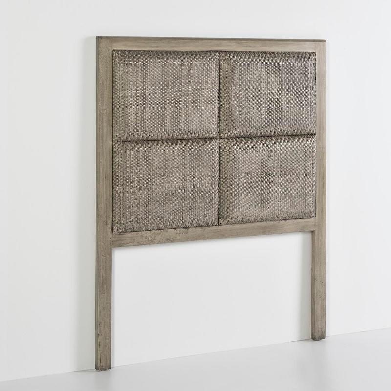 Kopfteil 110X9X137 Holz Verschleiertes Grau - image 53108
