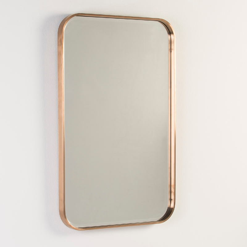 Miroir 65x4x100 Verre Métal Couleur Bronze - image 53111