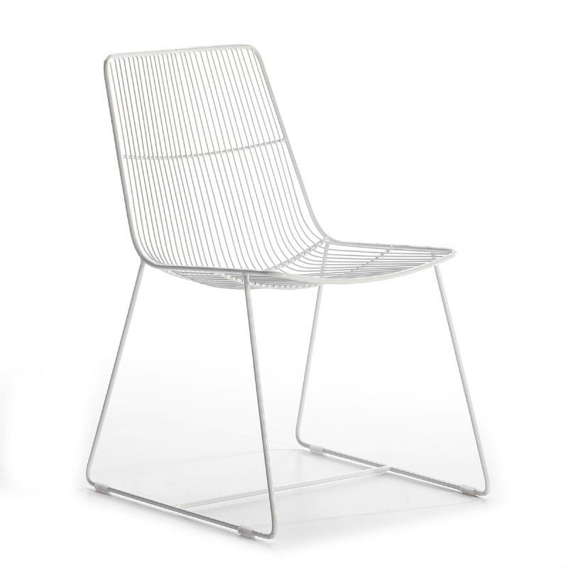 Sedia 55X59X83 Metallo Bianco