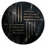 Hilfstisch 40X40X58 Metall/Marmor Golden/Schwarz