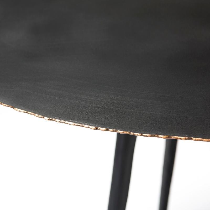 Table d'appoint, bout de canapé 46x46x57 Métal Noir - image 53221