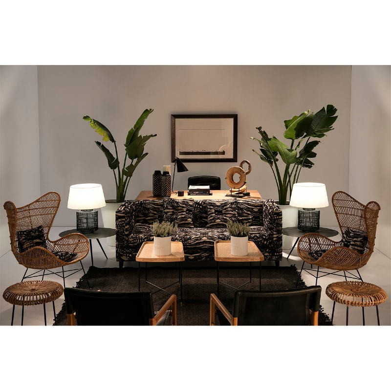 Coffee Table 77X77X40 Metal Black - image 53224