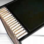 Consola 122X38X79 Espejo Envejecido Metal Dorado Negro