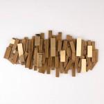 Escultura 100X5X50 Metal Dorado