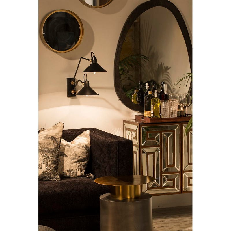Table d'appoint, bout de canapé 40x40x52 Métal Doré Zinc - image 53246