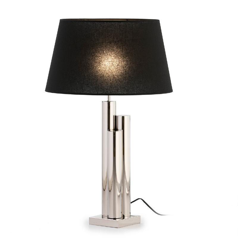 Lampe de Table sans abat-jour 18x18x49 Métal Nickel