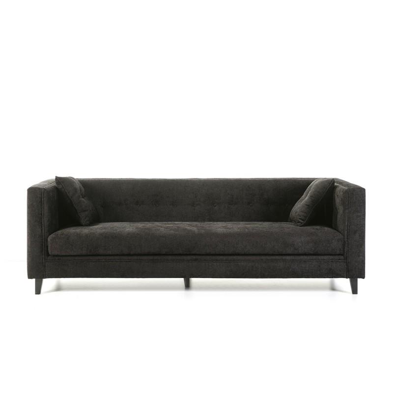 Sofa 4-Seater  240X95X70 Black Fabric - image 53276